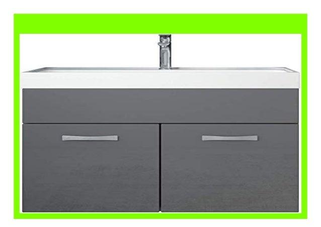 DISCOUNT Badezimmer Badm bel Set Paso 01 80 cm Waschbecken Hochglanz