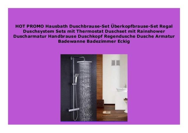 Thermostat Duscharmatur Duschsystem Regendusche Duschset Duschkopf m// Handbrause