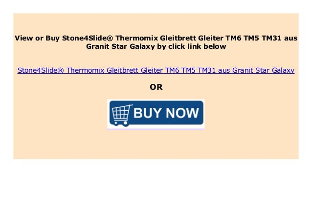 Stone4Slide/® Thermomix Gleitbrett Gleiter TM6 TM5 TM31 aus Granit Star Galaxy