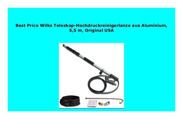 5,5/m Wilks Teleskop-Hochdruckreinigerlanze aus Aluminium Original USA