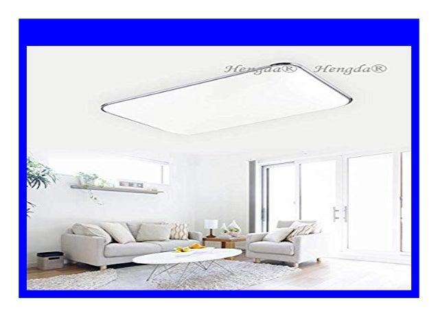 72W LED Deckenleuchte Wohnzimmer Design Deckenlampe Beleuchtung Küche IP44 Weiß