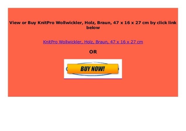 Big Sale Knitpro Wollwickler Holz Braun 47 X 16 X 27 Cm 164