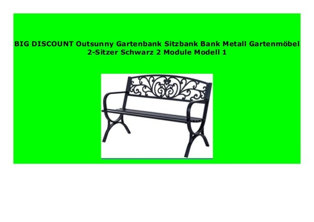 Big Sale Outsunny Gartenbank Sitzbank Bank Metall Gartenm
