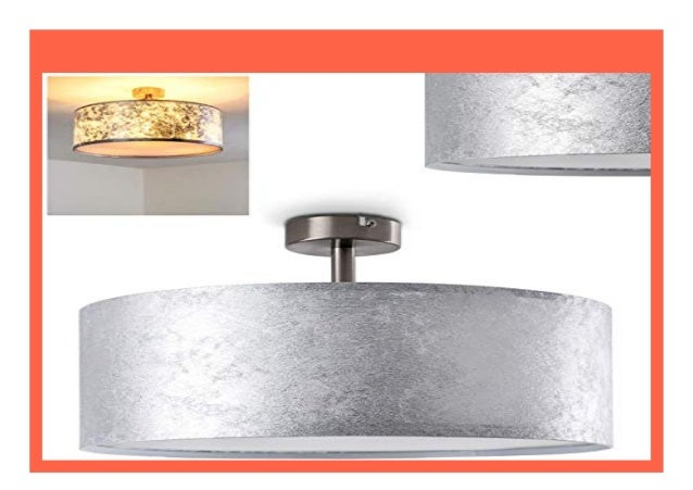 Deckenleuchte E27 Metall Modern silber