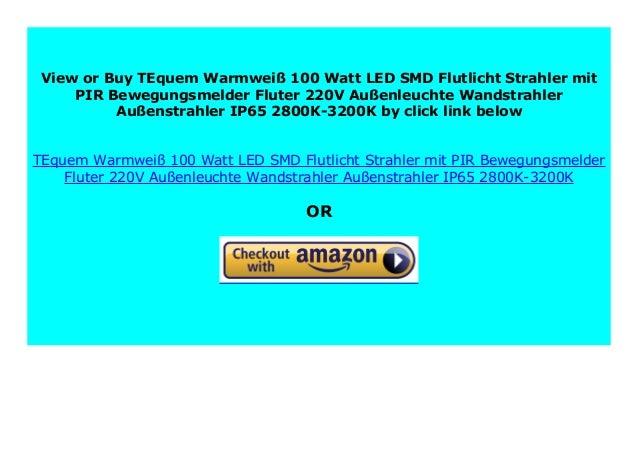 Best Buy Tequem Warmwei 100 Watt Led Smd Flutlicht