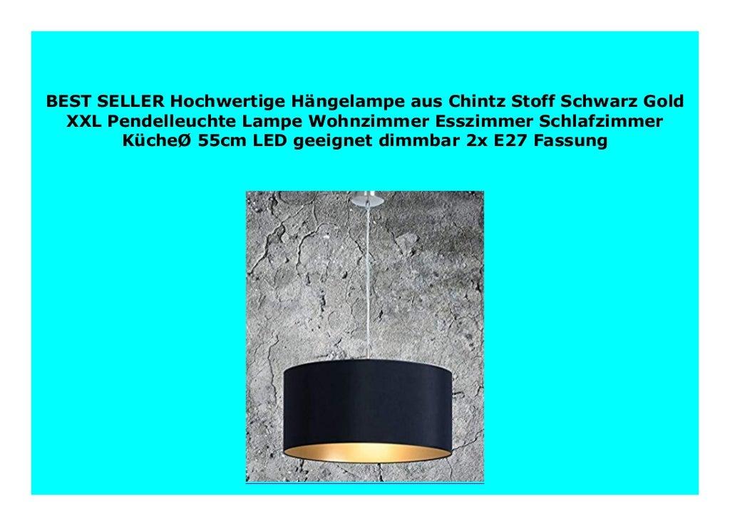 Best Price Hochwertige H ngelampe aus Chintz Stoff Schwarz Gold XXL P…