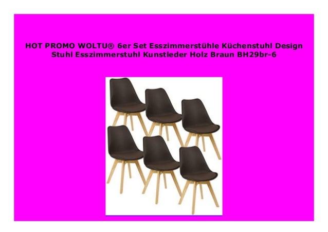 esszimmerstühle braun 6er