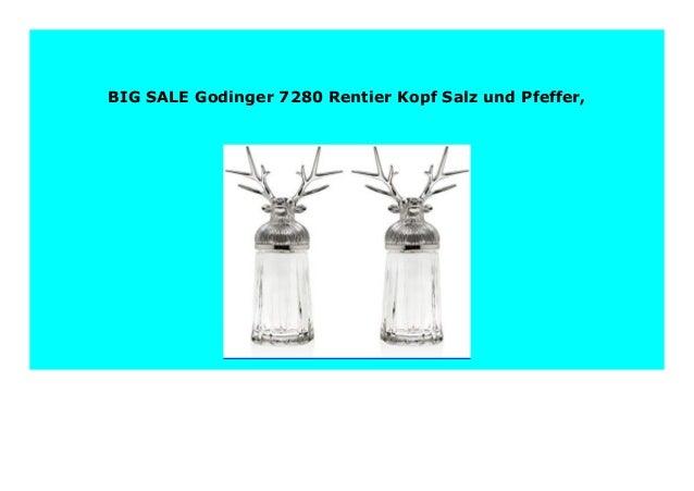 best price godinger 7280 rentier kopf salz und pfeffer 889