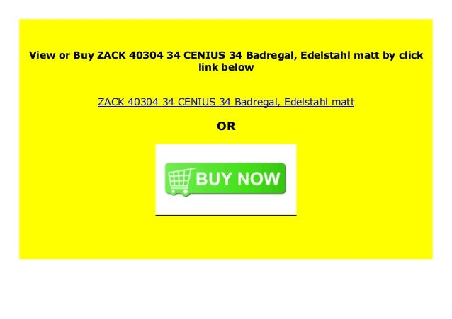 Edelstahl matt ZACK 40304 CENIUS Badregal