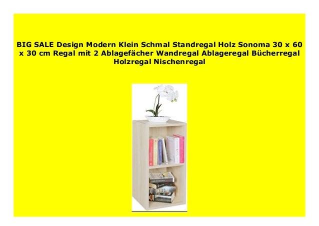 Big Sale Design Modern Klein Schmal Standregal Holz Sonoma