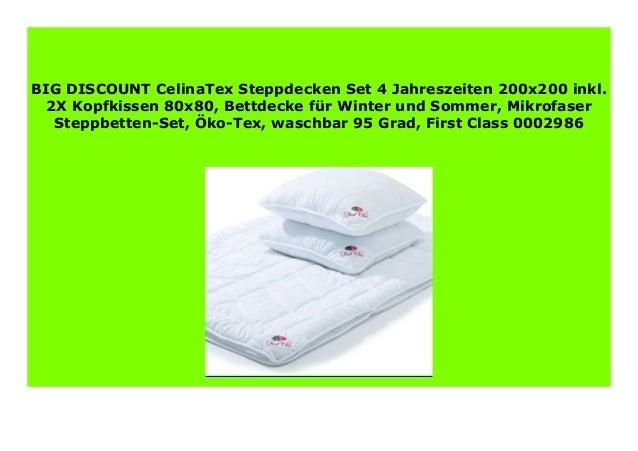 Best Price Celinatex Steppdecken Set 4 Jahreszeiten 200x200