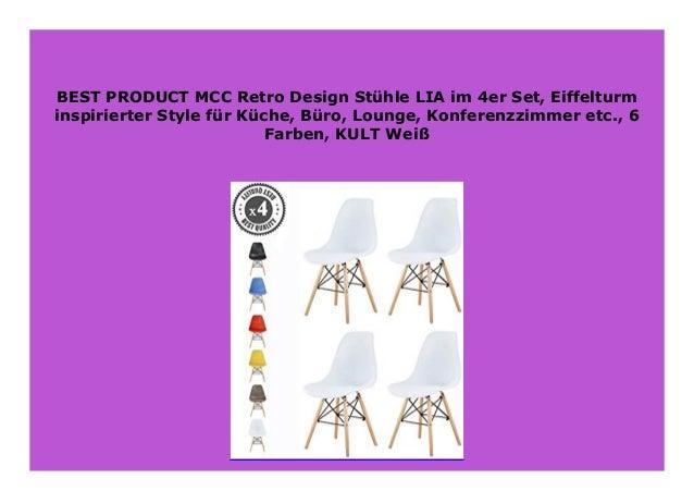 Eiffelturm inspirierter Style f/ür K/üche MCC Retro Design St/ühle LIA im 4er Set Kult Gelb B/üro Konferenzzimmer etc Lounge 6 Farben