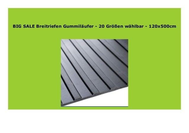 100x500cm Breitriefen Gummil/äufer 20 Gr/ö/ßen w/ählbar