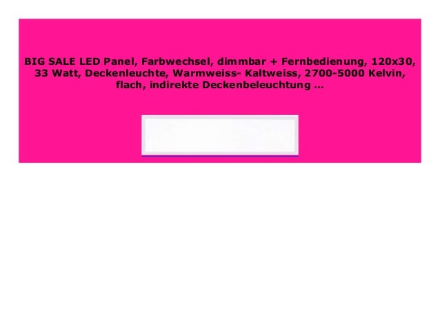 Big Discount Led Panel Farbwechsel Dimmbar Fernbedienung