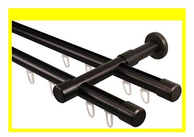 Metall  Gardinenstangen schwarz 160 cm