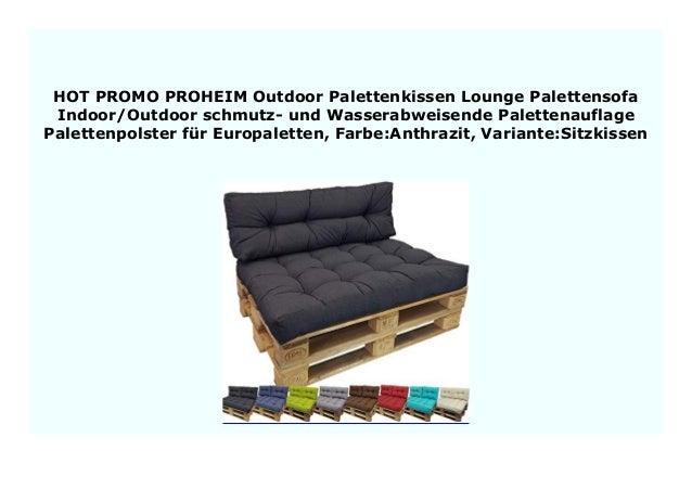 Palettenkissen Palettensofa Paletten Kissen Sofa Polster Sitzauflage In//Outdoor
