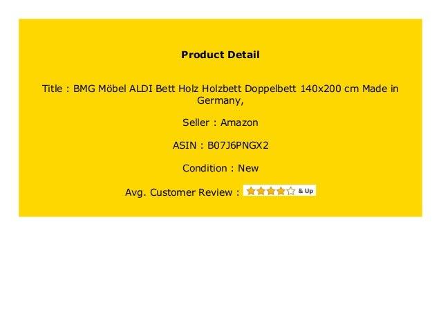BMG M/öbel ALDI Bett Holz Holzbett Doppelbett 140x200 cm Made in Germany,