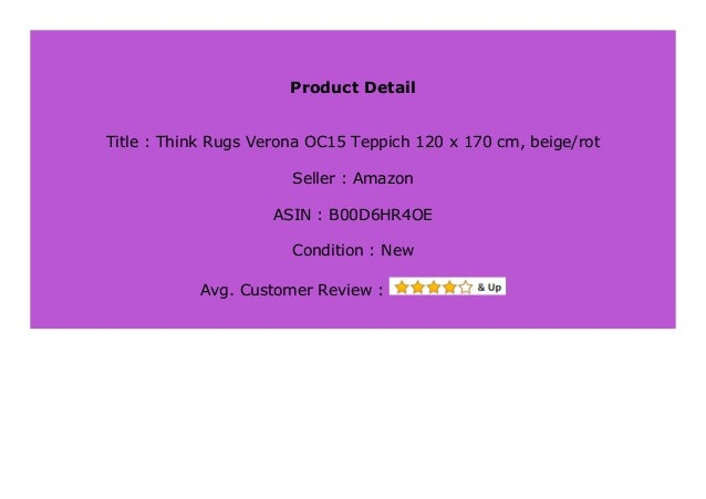 Big Sale Think Rugs Verona Oc15 Teppich 120 X 170 Cm