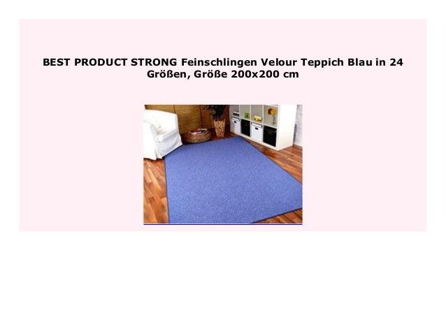 Feinschlingen Velour Teppich Strong Dunkelblau in 24 Größen