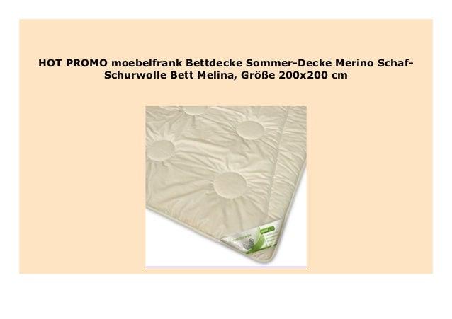 Big Discount Moebelfrank Bettdecke Sommer Decke Merino Schaf