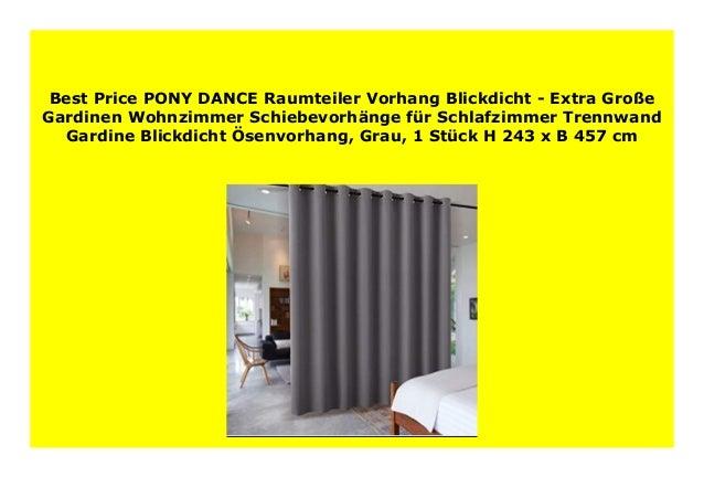 New Pony Dance Raumteiler Vorhang Blickdicht Extra Gro E