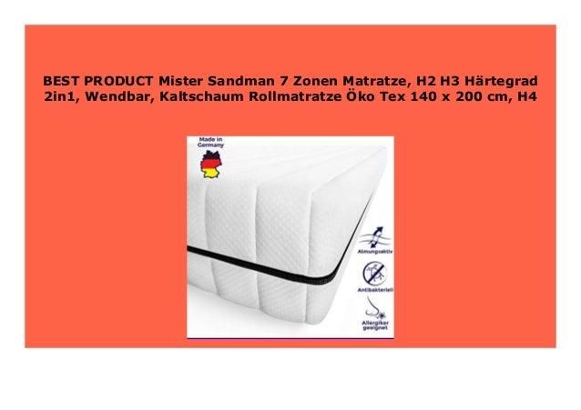Best Product Mister Sandman 7 Zonen Matratze H2 H3 H