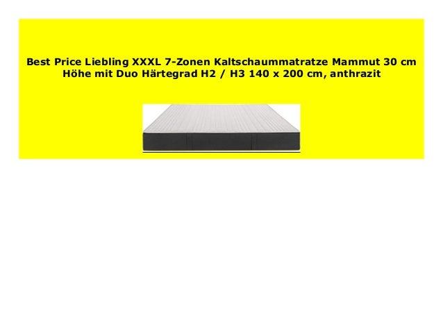 Hot Sale Liebling Xxxl 7 Zonen Kaltschaummatratze Mammut 30