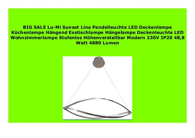 Best Product Lu Mi Sunset Lina Pendelleuchte Led Deckenlampe