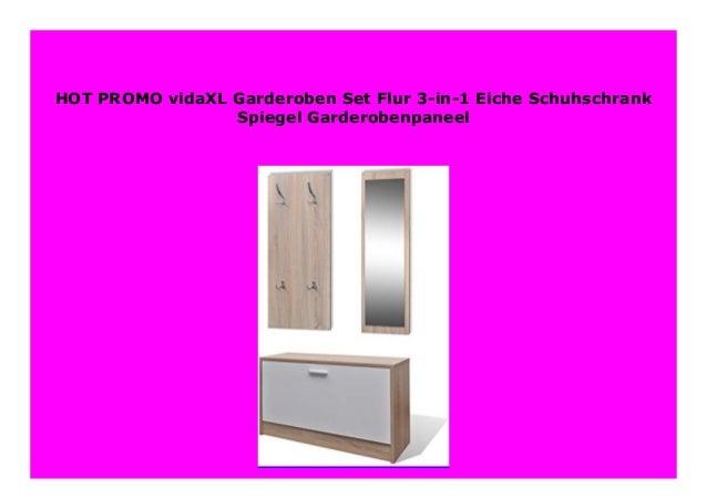 New Vidaxl Garderoben Set Flur 3 In 1 Eiche Schuhschrank Spiegel Gard