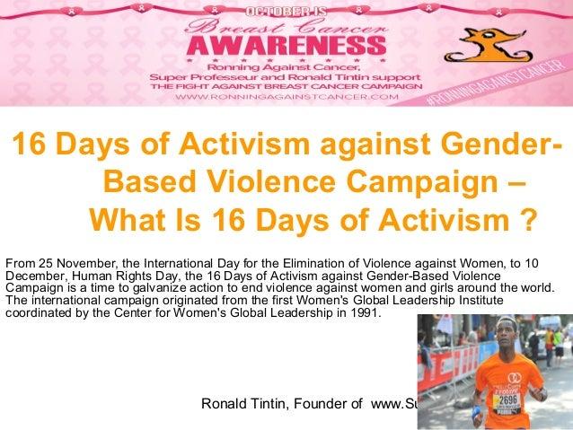 "16 Days of Activism against Gender-Based Violence Campaign 2018 : ""End Gender-Based Violence in the World of Work."" The Orange  the World : #HearMeToo – Supported by Les Aventures de Ronald Tintin Slide 3"