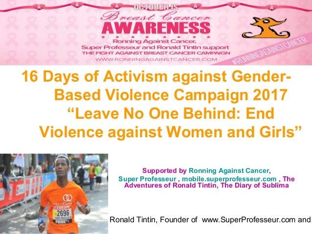"Ronald Tintin, Founder of www.SuperProfesseur.com and 16 Days of Activism against Gender- Based Violence Campaign 2017 ""Le..."
