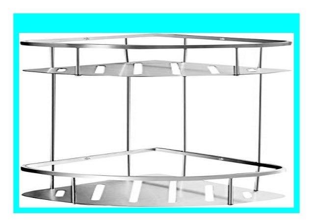 Geb/ürstet Ambrosya/® Edelstahl Ablage Bad Badezimmer Badregal Duschablage Dusche Duschregal Eckablage Halter Halterung Korb Regal Wandablage Exklusiver Duschkorb aus Edelstahl , 1 Etage