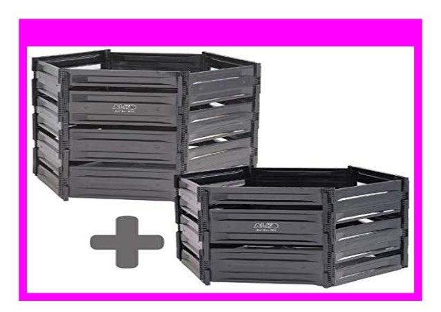 800 Liter Komposter in schwarz
