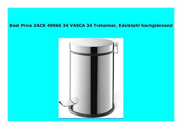 ZACK 40066 VASCA Treteimer Edelstahl hochgl/änzend