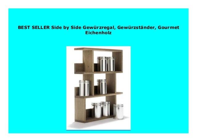 Gew/ürzregal Gourmet Eichenholz Side by Side Gew/ürzst/änder