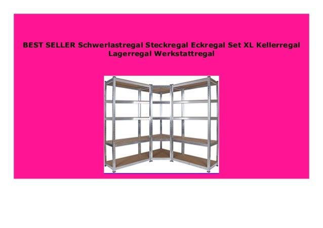 Schwerlastregal Steckregal Eckregal Set Kellerregal Lagerregal Werkstattregal