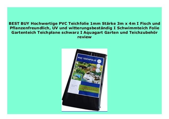 Teichfolie PVC 1mm schwarz in  4m x  3m