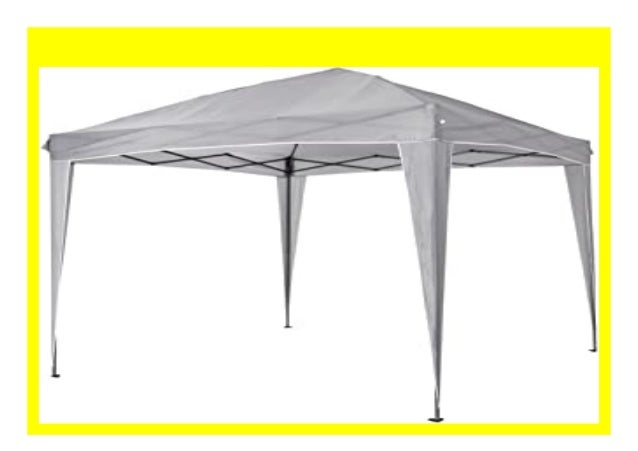 Quik Shade Faltpavillon One Push 3x3 m grau Faltzelt Camping Festzelt Partyzelt