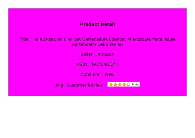 Best Buy Ks Rosts Ulen 6 Er Set Gartens Ule Edelrost Pflanzs