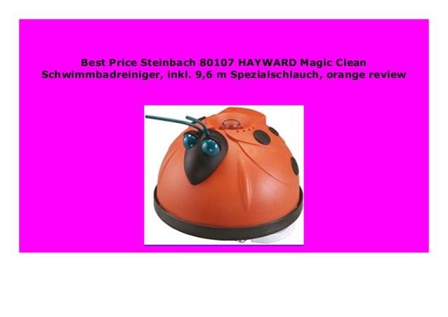 9,6 m Spezialschlauch orange Steinbach-80107-HAYWARD Magic Clean Schwimmbadreiniger inkl