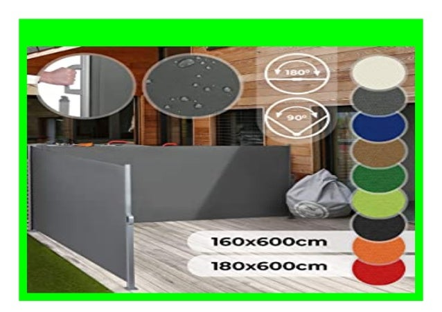 Best Price Jago Doppel Ausziehbare Seitenmarkise F R Balkon