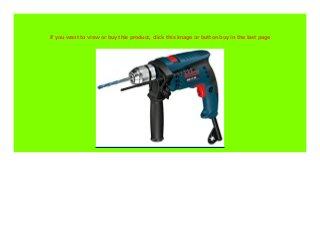 Bosch Professional 601217103 Schlagbohrmaschine 0 601 217 103 GSB 13 RE mit Koffer und Bohrer-Satz 301 W 230 V