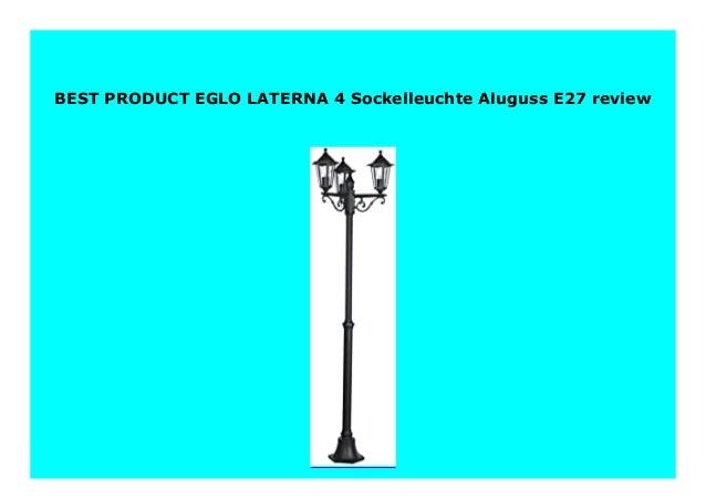 EGLO LATERNA 4 Sockelleuchte Aluguss E27