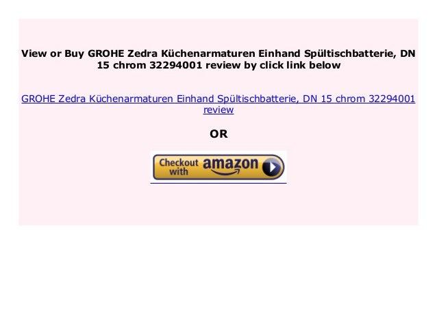 Best Price GROHE Zedra K chenarmaturen Einhand Sp ...