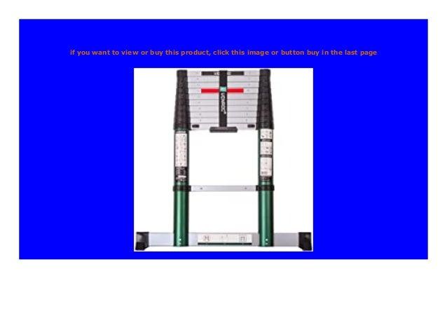 mit Softclose-System und Quertr/äger f/ür zus/ätzliche Stabilit/ät sehr robust gebaut und montiert f/ür Ihre Sicherheit gem/ä/ß DEKRA-Zertifizierung und EN 131 VONROC Profi Teleskopleiter 3,2 Meter