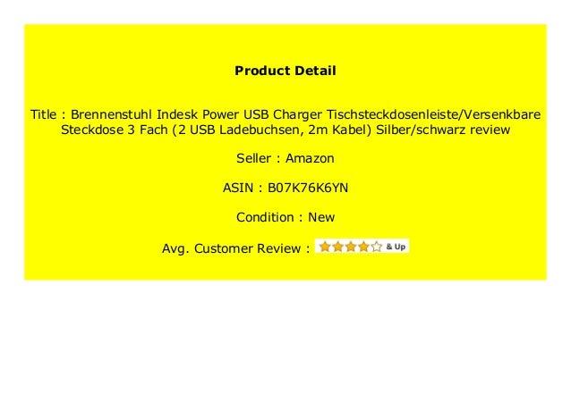 Brennenstuhl Indesk Power USB-Charger Tischsteckdosenleiste