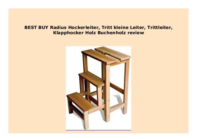 Hockerleiter Radius Trittleiter Tritt- kleine Leiter Holz Buchenholz Klapphocker