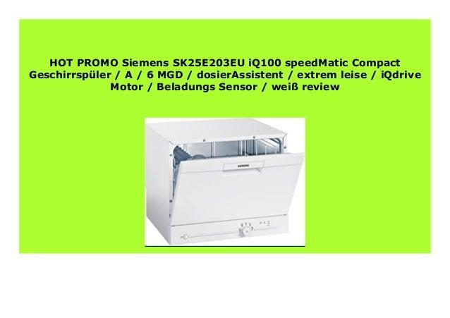 Siemens SK25E203EU Tischgeschirrspüler Weiß