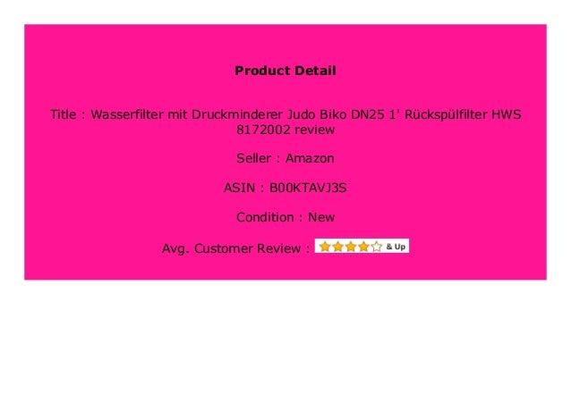 """Wasserfilter mit Druckminderer Judo Biko DN25 1/"""" Rückspülfilter HWS 8172002"""