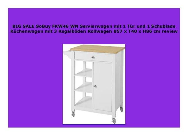 Best seller SoBuy FKW46 WN Servierwagen mit 1 T r und 1 ...